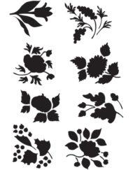 A 4 Sjabloon losse bloemen5