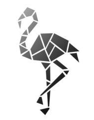 Flamingo sjabloon A4