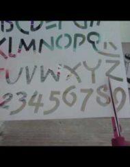 letter & cijfer sjablonen