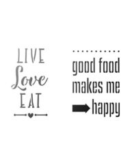 Live Love Eat sjabloon A4