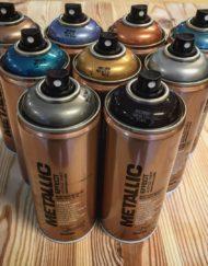 Metalic kleuren spuitbus