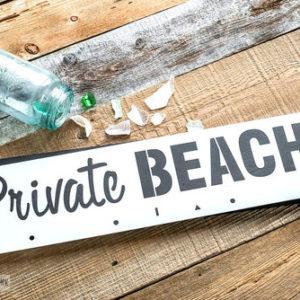 Private beach stencil, private beach sjabloon, groot sjabloon, stoer beach bord