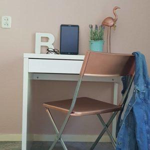 Muurverf oud roze kleur Roesia