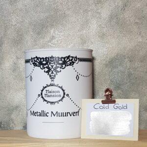 Cold Gold metallic muurverf