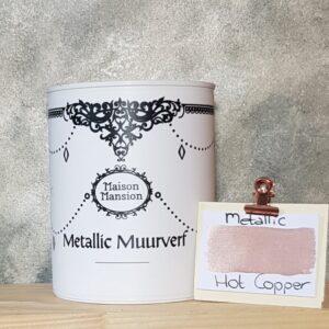 Hot copper metallic muurverf