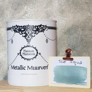 Ice Aqua metallic muurverf