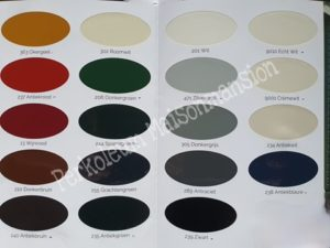 Kleurenkaart Perkoleum buitenbeits koopmans Maisonmansion