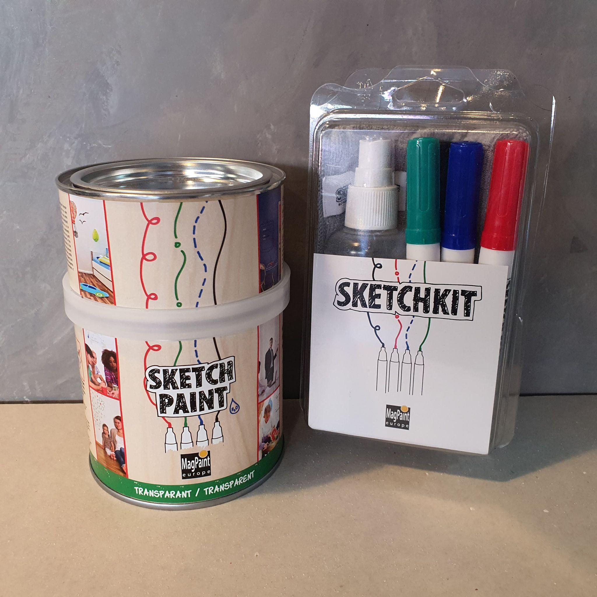 Sketchpaint whiteboard verf